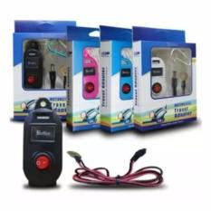 Charger Motor Charger Arus Aki Motor Tombol ON OFF - Hitam