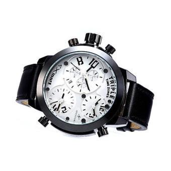 Chechang Genuine Fashion Men's Quartz Watch Three Movement Boys Retro Classic Tide Men's Leather