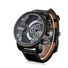 Chechang Oulm Brand Watch Factory / Fashion Personality Double Time Zone Men's Watch / Europe Radium Watch Wholesale 3130