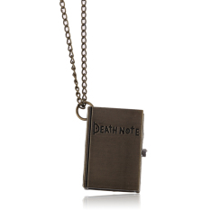 Chic Death Note Classic Fashion Quartz Pocket Watch Pendant Necklace Bronze