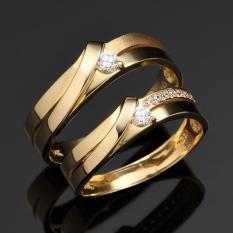 Cincin Couple Perak Lapis Emas LK-06 Exclusive Tunangan dan Pernikahan