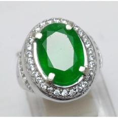 CINCIN PERMATA NATURAL ZAMRUD EMERALD ZAMBIA LIKE GREEN COLOMBIA EMERALD | BATU CINCIN
