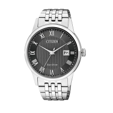 Citizen Watch ECO-DRIVE Silver Stainless-Steel Case Stainless-Steel Bracelet Mens NWT + Warranty AW1230-51E