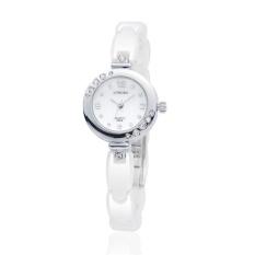 CITOLE Ms. Long Bo genuine high-grade ceramic table waterproof watch white diamond watch