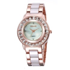 CITOLE Qin Wei brand of high-grade ceramic between Natural Rose Gold Ladies Watch disc