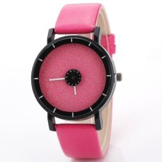 Coconie Fashion Casual Watches Men's Women's Leather Candy Colored Frosted Quartz Wrist Pink Free Shipping