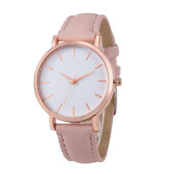coconie Fashion Watches Leather Stainless Men women Steel Analog Quartz Wrist Watch - intl