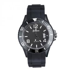 Coconie Luxury Geneva Watch Women's Men's Date Silicone Quartz Analog Wrist Watch White Free Shipping