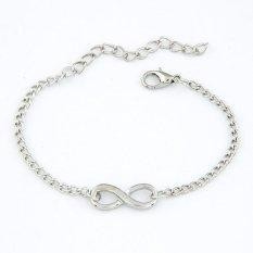 Cocotina Fashion Simple Womens Silver Tone Infinity Charm Bracelet Chain Jewellery (Intl)