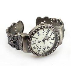 Cocotina Woman Retro Vintage Antique Pattern Bracelet Hollow Bangle Round Dial Wrist Watch