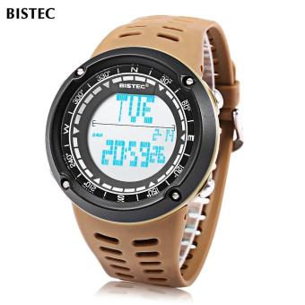 [COFFEE] BISTEC 006 Male Digital Watch LED Display Alarm Stopwatch 3ATM Men Sport Wristwatch - intl