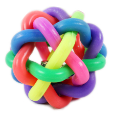 Colorful dog elastic ball ring - intl
