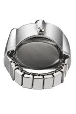 Creative Bun Fashion Lady Girl Steel Round Elastic Quartz Finger Ring Watch Women (Intl)