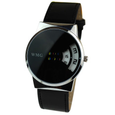 Creative Colorful Carousel Scale Pu Leather Belt Ladies Watches Black (Intl)