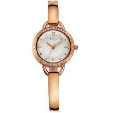 CUCOL New Women Fashion Lady Bracelet Watch Luxury Diamond Analog Display Quartz Wristwatch (Rose Gold)