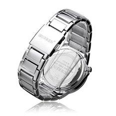 Curren 8111 Men's Round Dial Analog Watch with Tungsten Steel Strap (Silver / Black) (Intl)