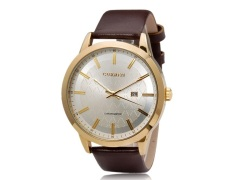 Curren 8114 Men's Round Dial Analog Watch with Faux Leather Strap (Brown) (Intl)