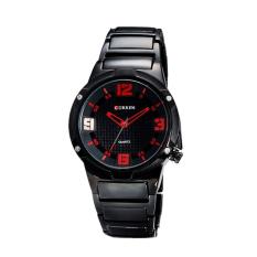 Curren Mens Black Stainless Steel Band Watch Black 8111