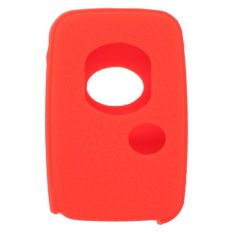 CV5400OR Leather Texture Silicone Key Cover Fit For Toyota 3 Button Smart Remote Key (Orange)