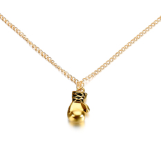 Cyber Casting Boxing Glove Pendant Necklace Jewelry Stainless Steel Glove Pendant (Gold) (Intl)