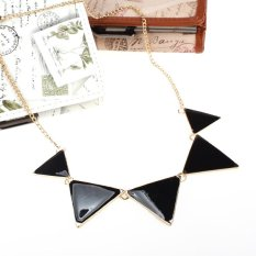 Cyber Punk Style Geometric Triangle Pattern Elegant Metal Chain Necklace Pendant (Multicolor)