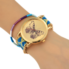 Cyber Women Korean Style Casual Analog Knitted Strap Casual Wrist Watch