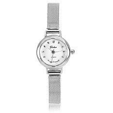 Cyber Women Lady Fashion Slim Elegant Small Dial Quartz Analog Wrist Watch (Silver) (Intl)