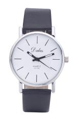 Dalas JD302 Fashion Vintage Women Simple Design Leather Strap Quartz Wristwatches (Black Strap Black Surface) (Intl)