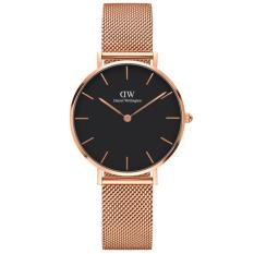 Daniel Wellington DW00100161 Jam Tangan Wanita Classic Petite Sterling 32MM Women Metal Bracelet Watch - Rose Gold Black