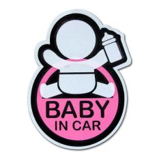 Decal Sticker Mobil Baby In Car Milk (Pink)