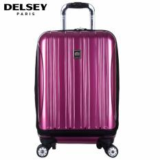 Delsey Helium Aero 55cm 4Wheels Cabin Hard Case with Front Storage Trolley - Ungu