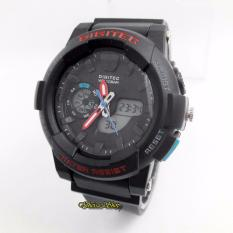 Digitec DG 3039 Dualtime - Jam Tangan Sport Cewek - Rubber Strap - Waterresist