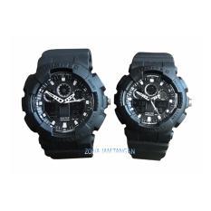 Digitec - DG2011 & DG2066 - Jam Tangan Couple Dual Time - Rubber Strap (Full