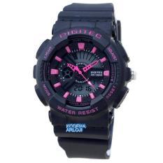 Digitec - DG2065L - Jam Tangan Wanita - Strap Karet - Hitam Pink