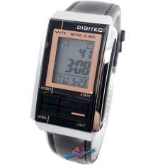 Digitec - DG3052L - Jam Tangan Wanita - Strap leather - ( Silver Hitam )