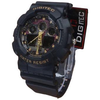 Digitec Dual Time Jam Tangan Sport Pria Rubber Strap - DG2011 Pria