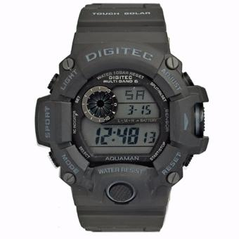 Digitec Men's DG2064BGRY - Jam Tangan Pria Sporty Dual Time - Strap Resin - Grey
