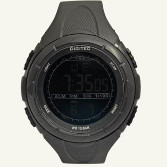 Digitec Men's DG3019FBL - Jam Tangan Pria Sport Watch - Strap Resin - Hitam