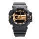 Digitec Men's - Jam Tangan Pria - DG 2080 Hitam List Gold - Strap Karet - Dual Time