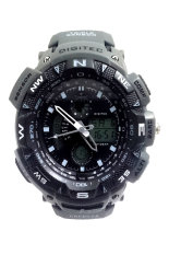 Digitec Red Bull G 2044 Men's - Abu-abu - Karet -Jam Tangan Dual Time