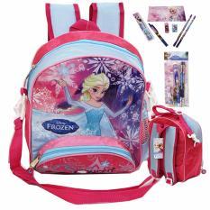 924035 Stationery Set Ungu Hijau FZ Source Harga Spesifikasi Disney Frozen Original Set Big Backpack New