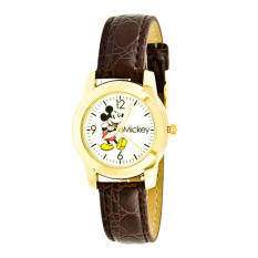 Disney Women's MCK612 Mickey Mouse Brown Strap Watch - Intl