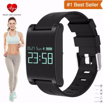 ***DM68*** Bluetooth Sport Smart Bracelet Watch Heart Rate Monitor Wristband Smartwatch Fitness Tracker Wechat For Smartphone(BlackRed)