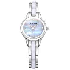 DOM Watch Fashion Lady Watch Individuality Elegant Lady Quartz Watch Bracelet Atmosphere Gold Shell Women's Watch - intl