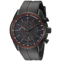 Drive From Citizen Eco-Drive Mens Quartz Stainless Steel And Polyurethane Casual Watch, Color: Black (Model: CA0595-11F) - Intl