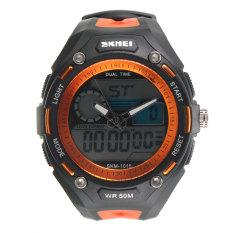 Dual Time Analog-Digital Stopwatch Day Date Men Boy Waterproof SKMEI Sport Watch