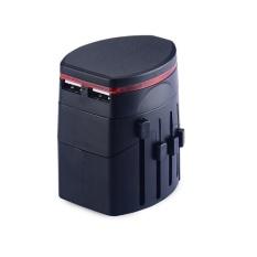 Dual USB Global General Conversion Plug Switch Socket Travel Universal Power Changeover Plug Adaptor - intl