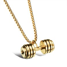 Dumbbell Pendant Man Necklaces Casual Stainless Steel Men's Sporty Jewelry New Fashion Party Gift For Male (Intl)