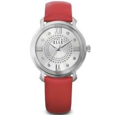 Elle Spirit ES20053S06X - Jam Tangan Wanita - Red Leather Strap