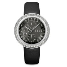 Elle Time EL20319S05C Black Leather Watches